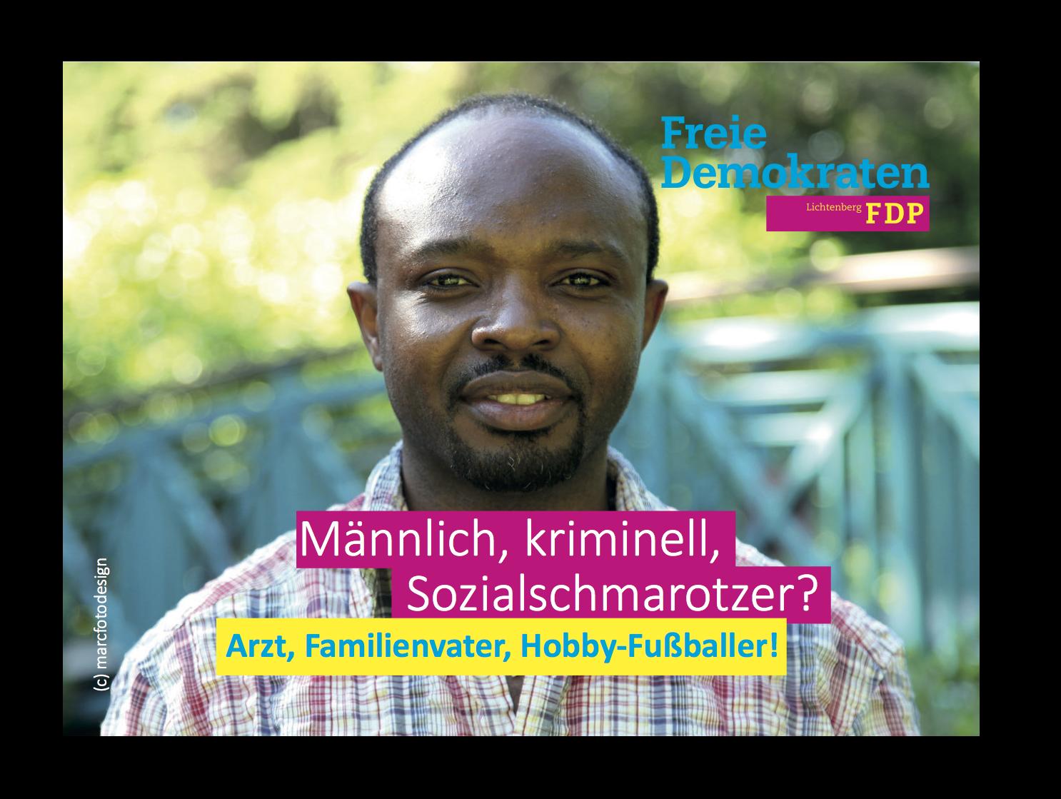 FDP Postkarte Flüchtlinge