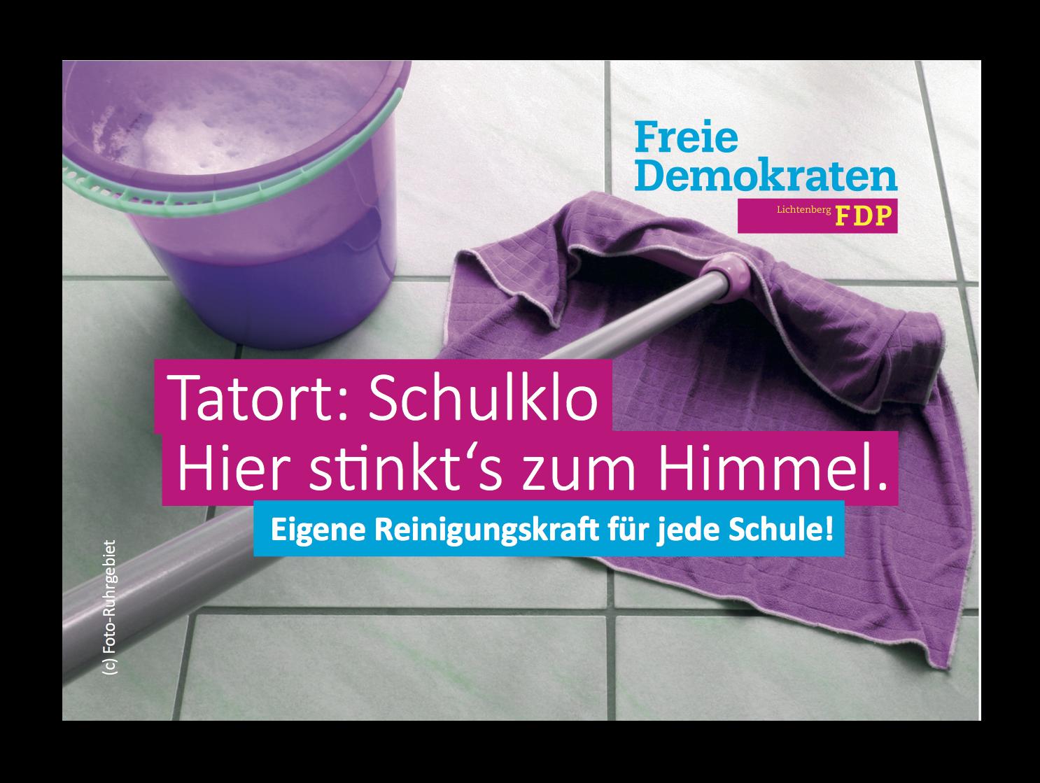 FDP Postkarte Schulreinigung