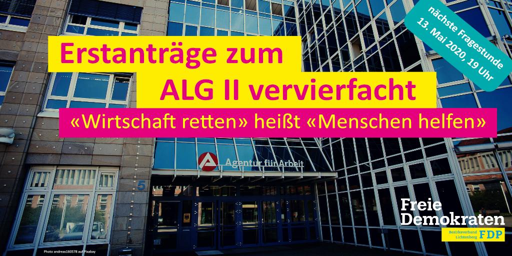 """Anträge zum ALG II vervierfacht - """"Wirtschaft retten"""" heißt """"Menschen helfen"""""""
